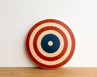 Target Circle Art Block - Red/White/Blue, American flag colors, archery target, bull's eye, colorway #13