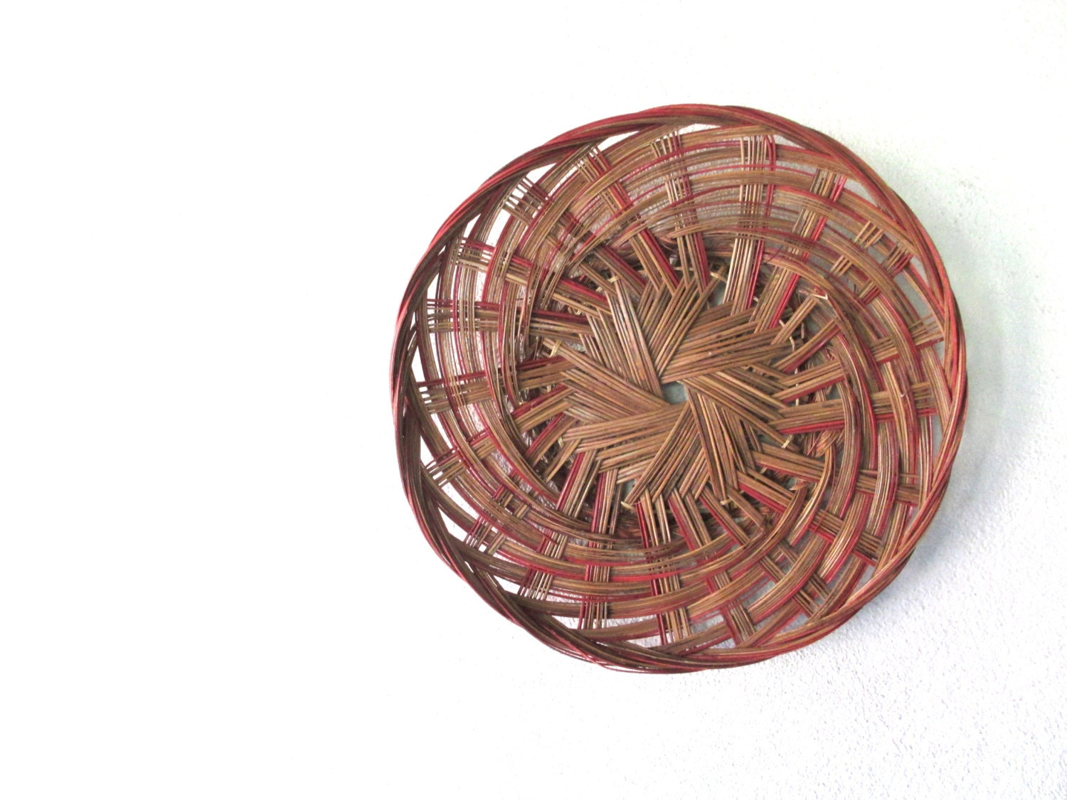 Vintage woven basket wall hanging decor warm by - Decorative basket wall art ...