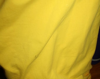 Yellow Cotton Lycra Fabric (yard)