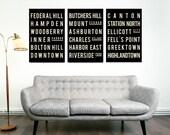 Subway Signs, BALTIMORE, Print, Art Poster, Maryland, Living Room Art, Decor, Wall Art, Prints, Hostess Gift, Housewarming, Best Friend Gift