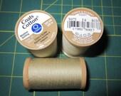 3 Spools - Coats & Clark S975 Cotton Machine Quilting Thread Tex 35 350 yds each - #8030 Ecru