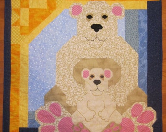 Teddy Bears Quilt, Wall Hanging, Crib Quilt Brand New never used