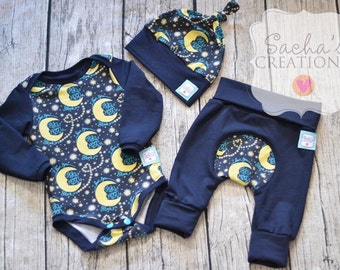 I Love You to the Moon Layette Set