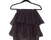 SAMPLE SALE Mohair crocheted mini skirt