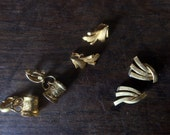Vintage Clip on Metal Earrings / English Shop