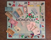 Vintage French Parkers Brothers Monopoly Game / English Shop
