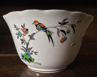 Vintage Tuscan Stapled Repair White Bowl Cup Dish circa 1920's / English Shop