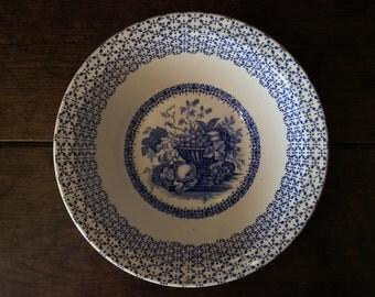 Vintage English Blue White Empire England Beverley Soup Breakfast Bowl Dish circa 1920's / English Shop