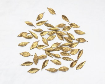 Gold Leaf Confetti - Wedding Table Decoration, Gold Leaf Decor, Table Decor, Gold Confetti, Gold Leaves, Wedding Table