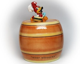 Cute Vintage Woody Woodpecker Cookie Jar