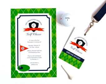 Preppy Golf Collection: Printable Party Package