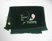 Green fishing towel