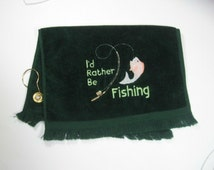 Green fishing towel