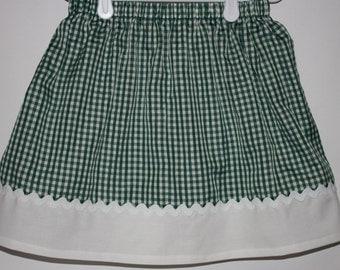 Green Gingham Skirt  Size 2 - 7