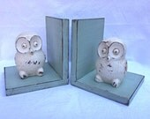 Owls on Sage Green Bookends