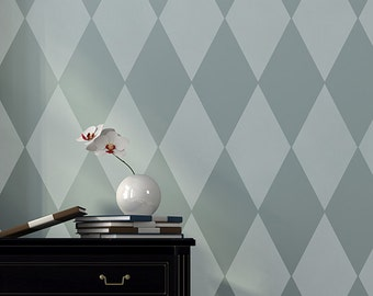 Large Harlelquin Wall Stencil Harlequin Stencil for a Modern Painted Wallpaper Look