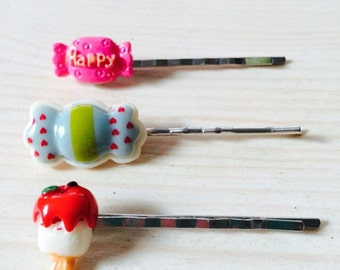 Kawaii candy bobby pin set