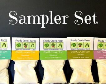 Laundry Soap Sampler - Laundry Detergent Sampler  - 5 Sample Size Varieties