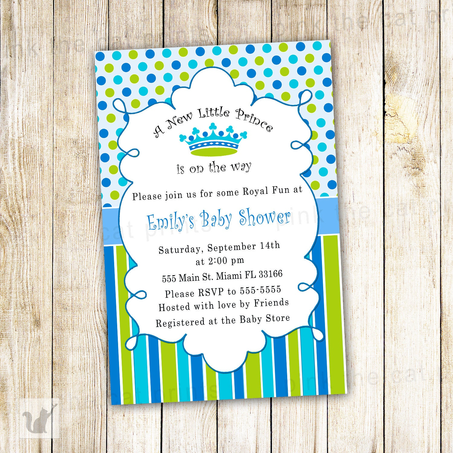 little prince invite  etsy, Baby shower