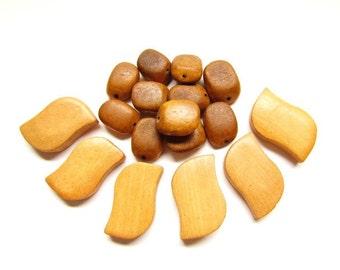 Chunky Wood Bead Mix