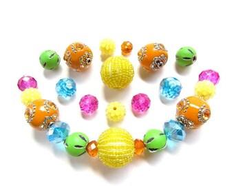 Large Bold Colorful Bead Mix