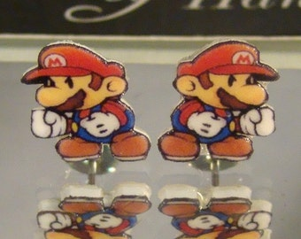 Super Mario Brothers Stud Earrings - Mario