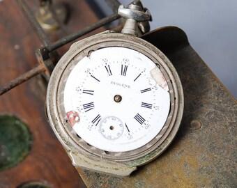 Antique pocket watch, Swiss made mechanical watch Diogene