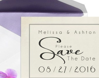 Personalized Wedding Stamp - Custom Save The Date Stamp - DIY Save The Date Stamp - DIY Printing - Date Reminder Stamp - Creative Wedding