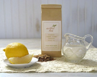 Organic Lemon Cream Rooibos Tea • 7 oz. Kraft Bag • Herbal Blend with Lemongrass & Marigold Petals • Loose Leaf Tea