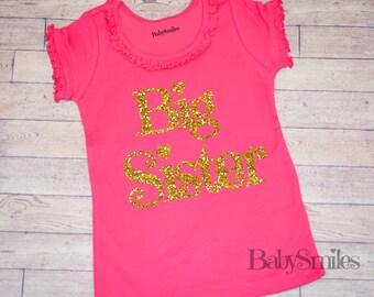 Big Sister Shirt Little Sister Shirt Sibling Shirts Personalized Shirt Sister Shirt Pregnancy Announcement Shirt Baby Announcement Shirt 118