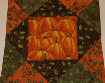 Mug Rug Fall Pumpkins