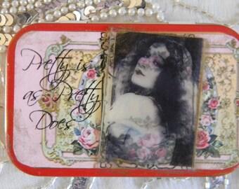 Pretty Is As Pretty Does Decorative Tin Box