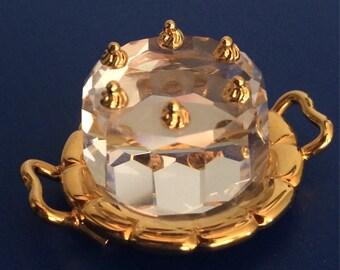 Miniature Swarovski Crystal Cake