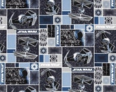 Star Wars III - Imperial Ships cotton quilting fabric print from Camelot Cottons - OOP end of bolt