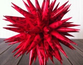 Christmas Ornament Polish Star - Red