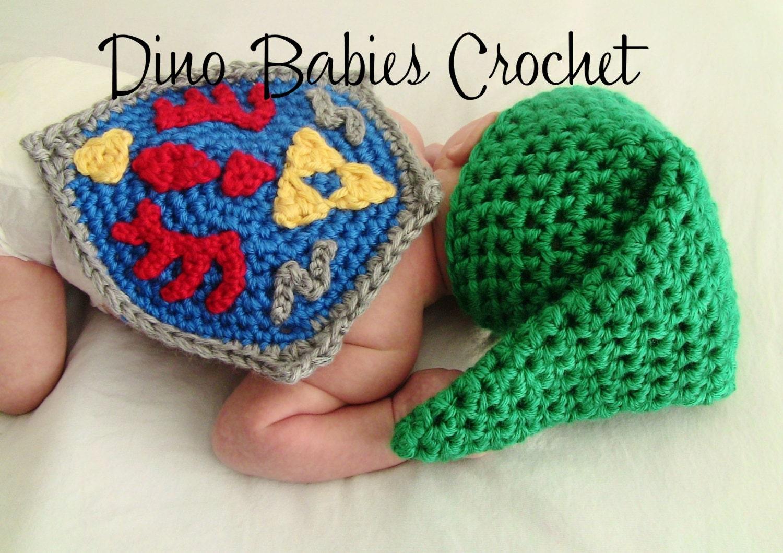 Crochet Zelda Hat : Link Baby Hat Newborn Zelda Crochet Infant beanie by Dinobabies Etsy