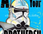 "Star Wars - The Clone Wars Propaganda Poster - ""AVENGE"" Art Print (11x17)"