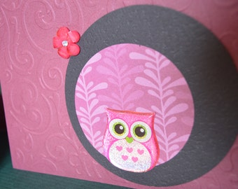 Owlie - set of 4 multi occasion cards
