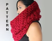 Bella Crochet Cowl Pattern, Super Easy and Quick Oversized Cowl Scarf Crochet Pattern, PDF Download