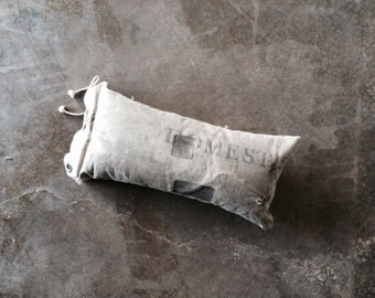 Genuine Vintage Mail Bag Pillow (Small)-Industrial Decor-Postal Chic-One-of-A-Kind