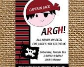 Pirate Invitation, Pirate Birthday, Pirate Party, Birthday Invitation, Printable Invitation, Boy Birthday Invite, Birthday Party, Baby Boy