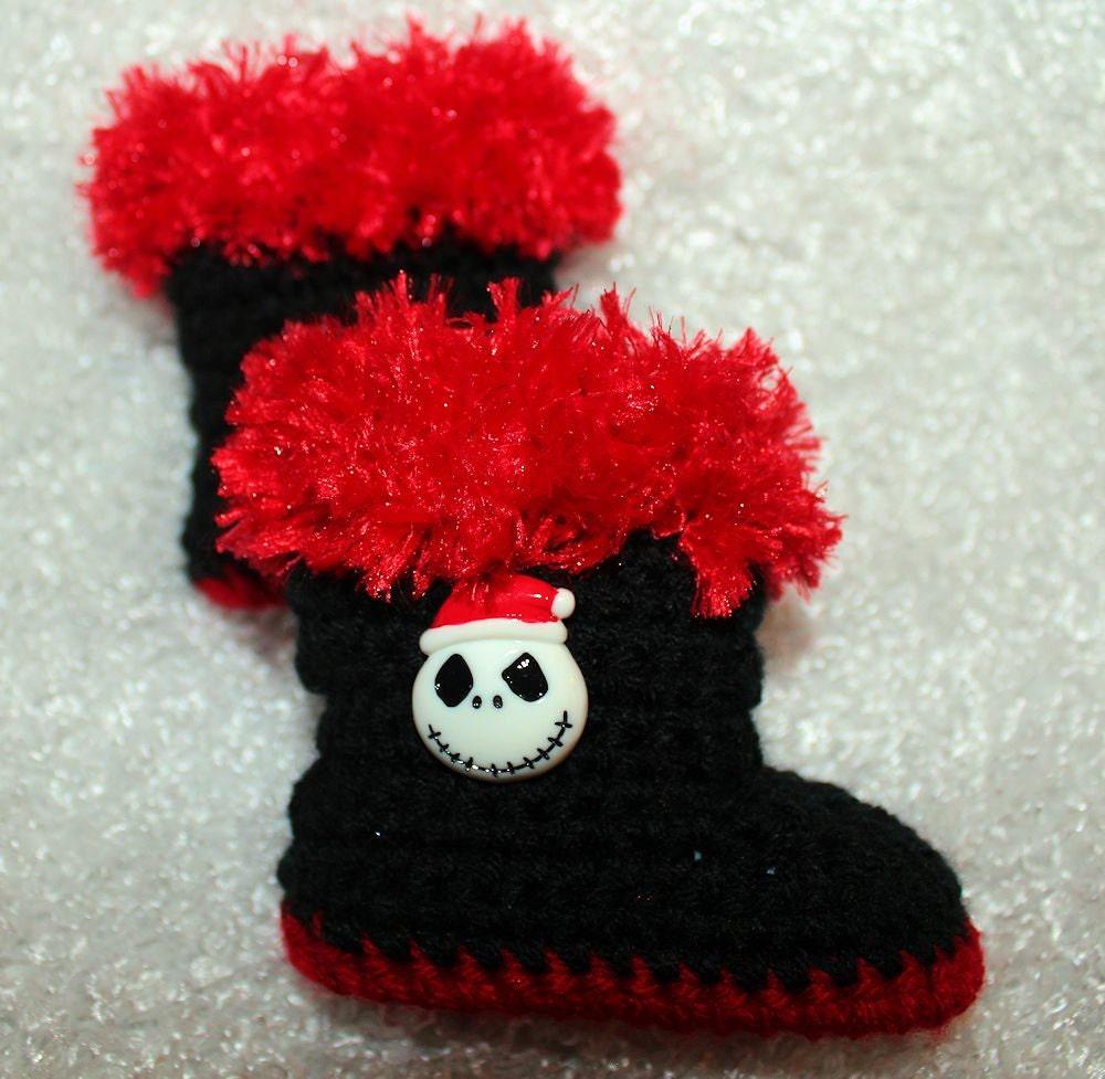 Jack Skellington Santa Hat Slippers - Nightmare Before Christmas ...