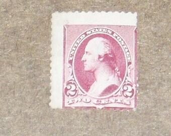 USA Mint Stamp, 219D Lake 2c Washington, c. 1890