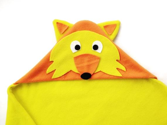 Fox Hoodie Blanket Sewing Pattern
