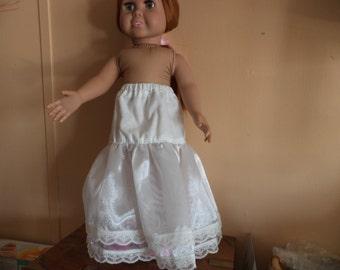 18 inch doll White Petticoat Slip, Ready to Ship
