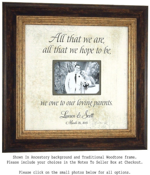 Wedding Picture Frame Parents Wedding Gift All That We Are Mother Of The Bride Father Of The
