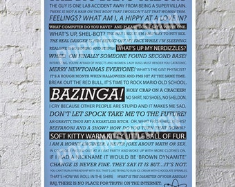11x17 Big Bang Theory Quotes Poster