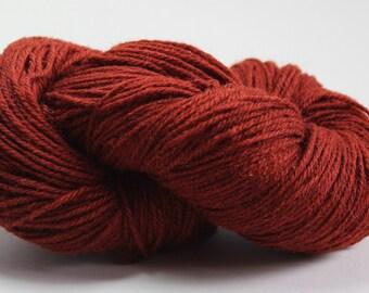 100% Wool yarn, 3 ply, Brown, 100g