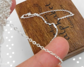 Wholesale Dainty chain-Big sale-100 feet silver brass chain-jewelry handmade must-have-F754