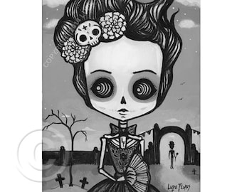 Dolores  5x7 print by Lupe Flores